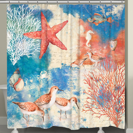 Reef Life Shower Curtain