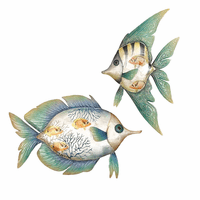 Reflective Fish Wall Art - Set of 2