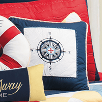 Regatta Bay Compass Pillow