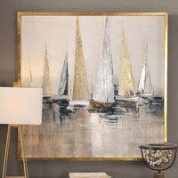 Regatta Nautical Framed Canvas