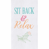Relax Beach Chair Flour Sack Towels - Set of 6