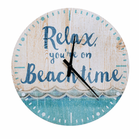 Relaxing Waves Beach Wall Clock