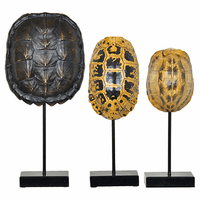 Resin Turtle Shell Statues - Set of 3