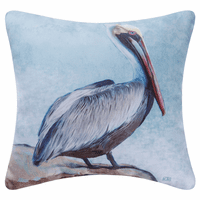 Resting Pelican Indoor/Outdoor Pillow