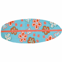 Retro Floral Surfboard Indoor/Outdoor Rug