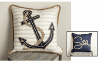 Reversible Anchor/Sea Pillow