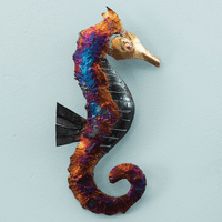 Right-Facing Copper Dripped Seahorse - Large