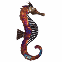 Right-Facing Copper Dripped Seahorse - Medium