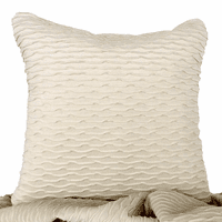 Ripple Ivory & Sophia Sand Accent Pillow