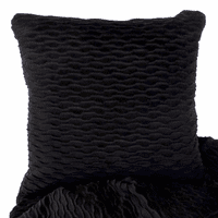 Ripple Onyx & Suave Black Accent Pillow