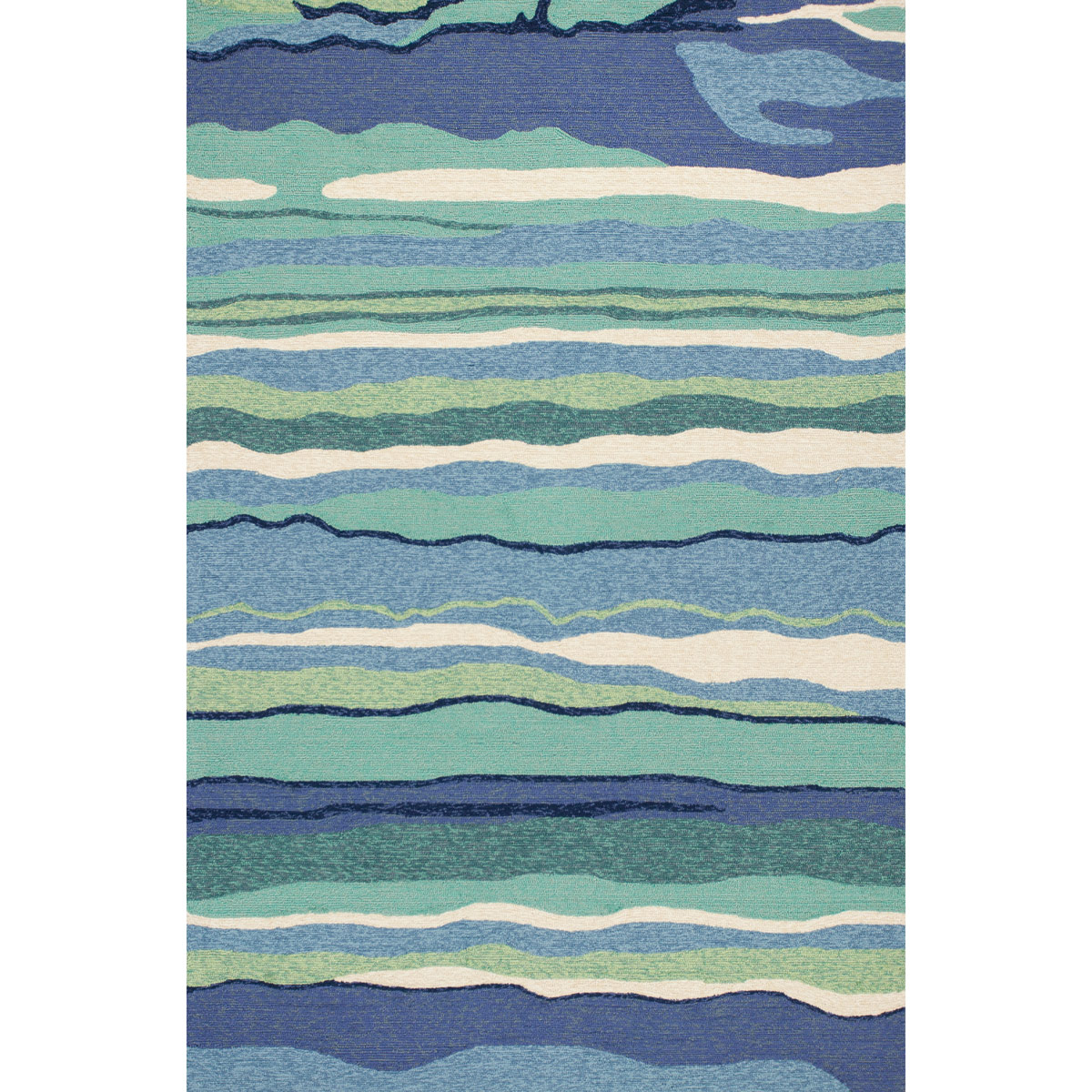 Rippling Waves Indoor Outdoor Rug 3 X 5