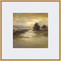 Riverbank Framed Print