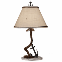 Rope & Anchor Iron Table Lamp