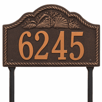 Rope and Shell Lawn Address Plaque - Oil Rubbed Bronze