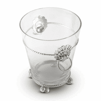 Rope & Coquille Medallion Glass Ice Bucket - Large