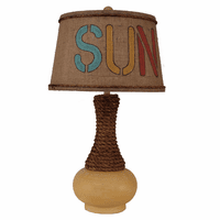 Rope Neck Table Lamp with Sun Shade