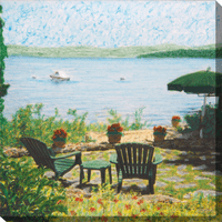 Rosemont Bay II Canvas Art