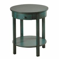 Round Blue Fir Side Table