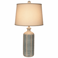 Round Gray Shutter Table Lamp