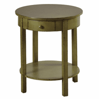 Round Green Fir Wood Table