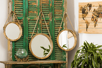 Round Rope Mirrors - Set of 3