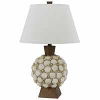 Round Seashell Table Lamp