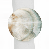 Round Shell Napkin Rings - Set of 6