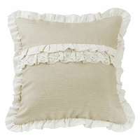 Ruffle and Lace Accent Pillow