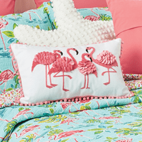 Ruffled Flamingos Pillow - BACKORDERED until 9/20/2021