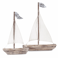 Rustic Sailboats - Set of 2