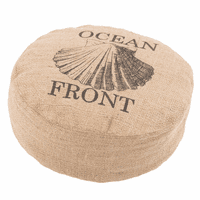 Rustique Shell Pouf - 6 Inch