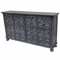Rutledge Antique Gray 4 Door Pattern Front Sideboard