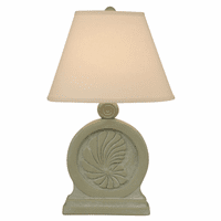 Sage Framed Nautilus Shell Table Lamp