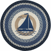 Sail Away Round Rug - BACKORDERED Until 5/19/2021