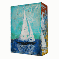 Sailboat Aluminum Box Wall Art