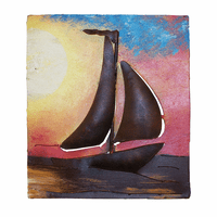 Sailboat at Sunset Metal Wall Art