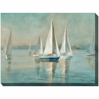 Sailboat Bay Indoor/Outdoor Canvas Art