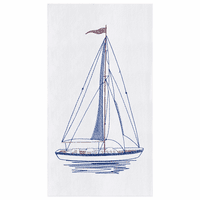 Sailboat Flour Sack Kitchen Towels - Set of 12