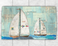 Sailboat Race Dobby Rug