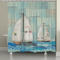 Sailboat Race Shower Curtain
