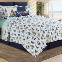 Sailboat Sea Quilt Set - King - OUT OF STOCK