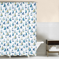 Sailboat Sea Shower Curtain - OUT OF STOCK