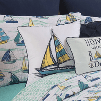Sailboat Still Life Pillow