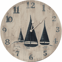 Sailboat Trio Wall Clock