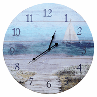Sailboat Wood Wall Clock - Large