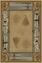 Sailboats & Compass Rug Collection