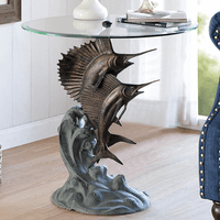 Sailfish & Marlin Dance End Table