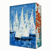 Sailing Aluminum Box Wall Art