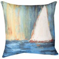 Sailing Blue Waters Climaweave Pillow