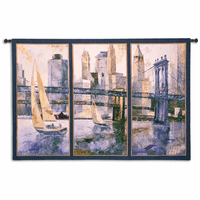 Sailing in the Afternoon Large Wall Tapestry